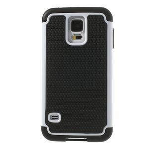 Odolný obal 2v1 na mobil Samsung Galaxy S5 - bílý - 2