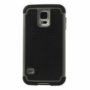 Odolný obal 2v1 na mobil Samsung Galaxy S5 - šedý - 2