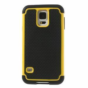 Odolný obal 2v1 na mobil Samsung Galaxy S5 - žlutý - 2