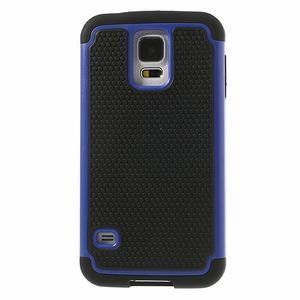 Odolný obal 2v1 na mobil Samsung Galaxy S5 - modrý - 2