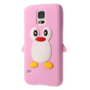 Penguin silikonový obal na Samsung Galaxy S5 - růžový - 2