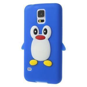 Penguin silikonový obal na Samsung Galaxy S5 - modrý - 2