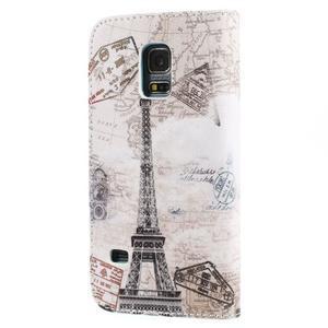 Emotive PU kožené pouzdro na Samsung Galaxy S5 mini - Eiffelova věž - 2