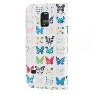 Emotive PU kožené pouzdro na Samsung Galaxy S5 mini - motýlci - 2