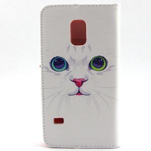 Peněženkové pouzdro na mobil Samsung Galaxy S5 mini - kočička - 2