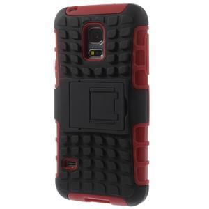 Outdoor odolný obal na mobil Samsung Galaxy S5 mini - červený - 2
