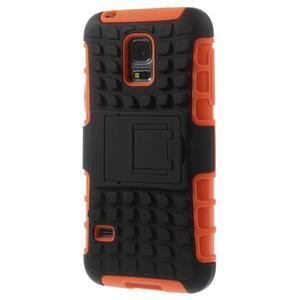 Outdoor odolný obal na mobil Samsung Galaxy S5 mini - oranžový - 2