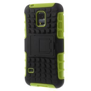 Outdoor odolný obal na mobil Samsung Galaxy S5 mini - zelený - 2