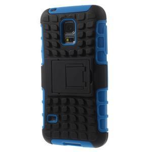 Outdoor odolný obal na mobil Samsung Galaxy S5 mini - modrý - 2