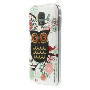 Owls gelový obal na Samsung Galaxy S5 mini - paní sova - 2