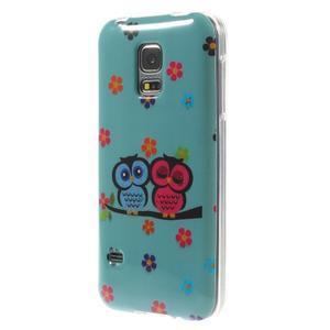 Owls gelový obal na Samsung Galaxy S5 mini - soví pár - 2