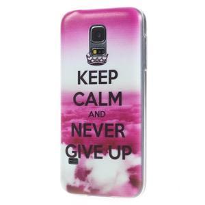 Ultratenký obal na mobil Samsung Galaxy S5 mini - Keep Calm - 2