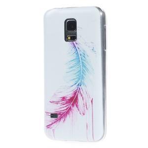 Ultratenký obal na mobil Samsung Galaxy S5 mini - peříčko - 2