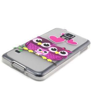 Transparentní gelový obal na mobil Samsung Galaxy S5 mini - soví rodinka - 2