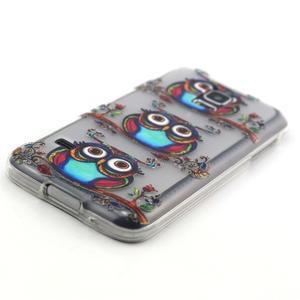 Transparentní gelový obal na mobil Samsung Galaxy S5 mini - sovy - 2