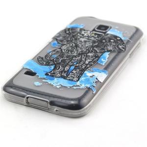 Transparentní gelový obal na mobil Samsung Galaxy S5 mini - slon - 2