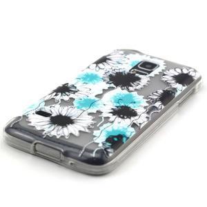 Transparentní gelový obal na mobil Samsung Galaxy S5 mini - sedmikrásky - 2