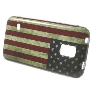 Softy gelový obal na Samsung Galaxy S5 mini - US vlajka - 2
