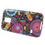 Softy gelový obal na Samsung Galaxy S5 mini - barevné kruhy - 2/5