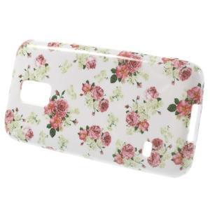 Softy gelový obal na Samsung Galaxy S5 mini - květinová koláž - 2