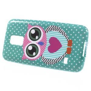 Softy gelový obal na Samsung Galaxy S5 mini - zamilovaná sova - 2