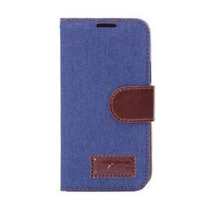 Jeans peněženkové pouzdro na Samsung Galaxy S5 mini - modré - 2
