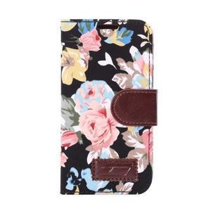 Květinové pouzdro na mobil Samsung Galaxy S5 mini - černé pozadí - 2