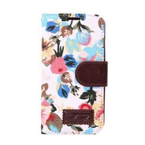 Květinové pouzdro na mobil Samsung Galaxy S5 mini - bílé pozadí - 2