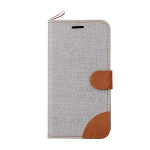 Jeans pouzdro na mobil Sony Xperia E4 - šedé - 2