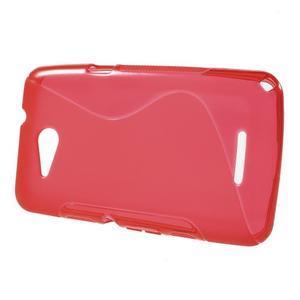 S-line gelový obal pro Sony Xperia E4g - červený - 2