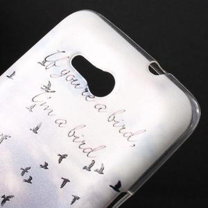 Gelový obal na Sony Xperia E4g - létající ptáčci - 2