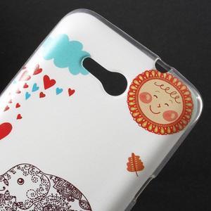 Gelový obal na Sony Xperia E4g - zamilovaný slon - 2