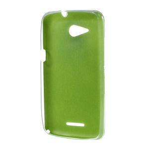 Gelový obal na Sony Xperia E4g s koženkovými zády - zelený - 2