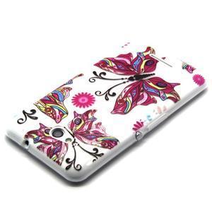 Vzorový gelový obal na Sony Xperia E4g - motýl - 2