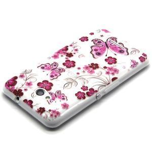 Vzorový gelový obal na Sony Xperia E4g - motýlci - 2