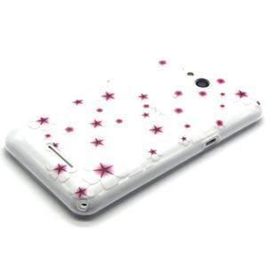 Vzorový gelový obal na Sony Xperia E4g - květiny - 2