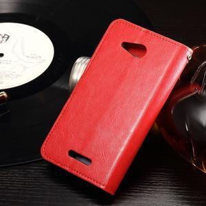 Horse PU kožené pouzdro na mobil Sony Xperia E4g - červené - 2