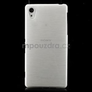 Broušený gelový obal na Sony Xperia Z2 - bílý - 2