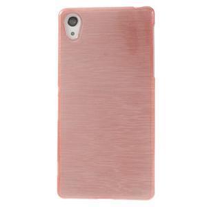 Broušený gelový obal na Sony Xperia Z2 - růžový - 2