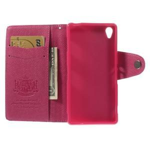 Rose peněženkové pouzdro na Sony Xperia Z3 - 2