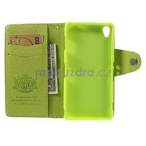 Zelené peněženkové pouzdro na Sony Xperia Z3 - 2