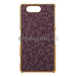 Elegantní kryt se zlatým lemem Sony Xperia Z3 Compact - fialový - 2