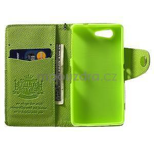 Zelené peněženkové pouzdro na Sony Xperia Z3 Compact - 2
