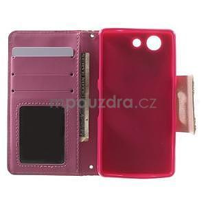 Zapinací pouzdro s mašličkou na Sony Xperia Z3 Compact - červené - 2