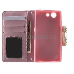 Zapinací pouzdro s mašličkou na Sony Xperia Z3 Compact - růžové - 2