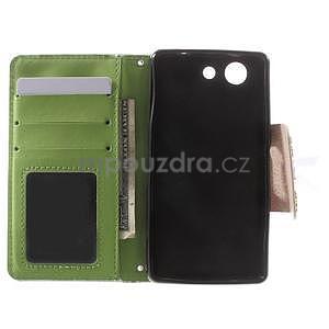 Zapinací pouzdro s mašličkou na Sony Xperia Z3 Compact - azurové - 2