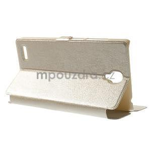 PU kožené pouzdro na Xiaomi Hongmi Note - champagne - 2