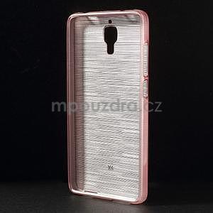 Broušený kryt na Xiaomi 4 MI4 - růžový - 2