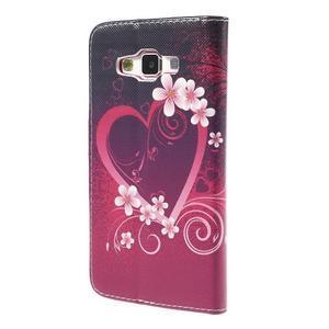 Emotive PU kožené pouzdro na mobil Samsung Galaxy A5 - srdce - 2