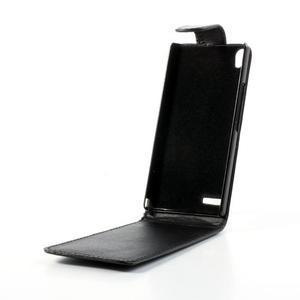 Flipové pouzdro na Huawei Ascend P6 - černé - 2